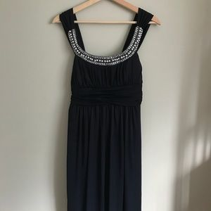 Jolie // 1920s Inspired Beaded Dress in Navy
